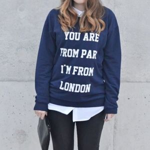 SALE Mango MNG Paris London Sweater